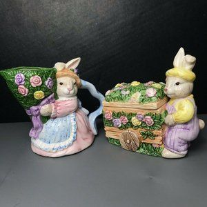 O.C.I. Philippines Vintage Easter Bunny Planters